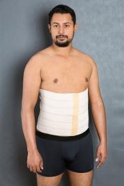 Cod. 4034-6 GOMOS. FAIXA ABDOMINAL DE ELÁSTICO VELCRADO, MODELOS COM 3, 4, 5, 6 e 7 GOMOS. Auxilia na correção de postura, pós operatório de lipoaspiração de flancos, abdômen, gastroplastia, hérnia e correção de postura.