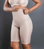 Cod. 4002 A. BERMUDA ESTÉTICA ALTA. Com fundo aberto. Previne a flacidez, celulite e gorduras localizadas no abdômen e auxilia na correção das marcas deixadas pelas calças baixas e modela a cintura. Evita o atrito entre as pernas.